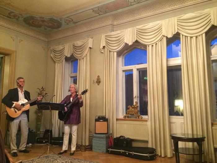 Världsnaturarvet 10 år. Konsert i Landshövdingsresidenset, Vasa 5.9.2016 Jan-Erik Elfving, Karin Sandqvist IMG 2040